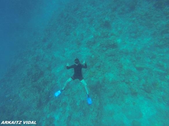 A 6m bajo el agua ...